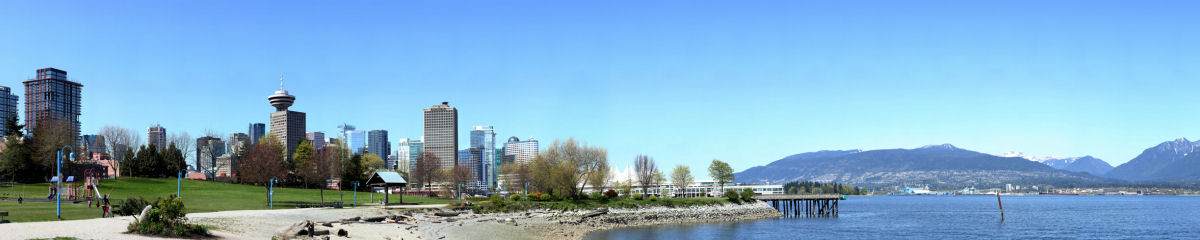 Vancouver from Crab Park at Portside Gigapixel Photography