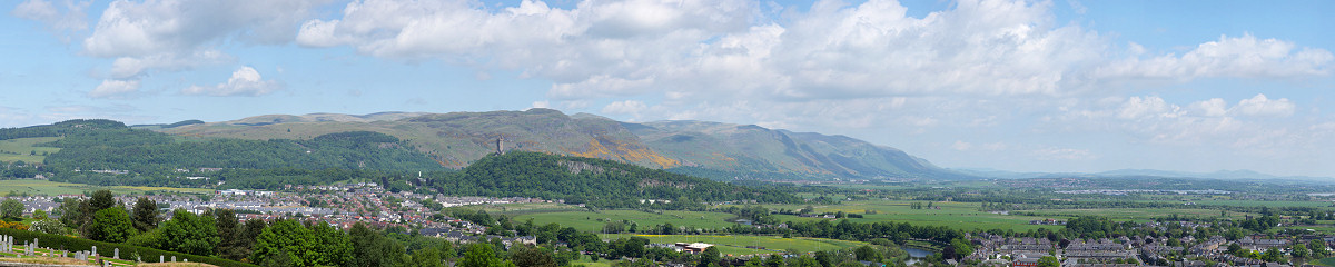 Stirling & Wallace Monument from Stirling Castle Gigapixel Photography