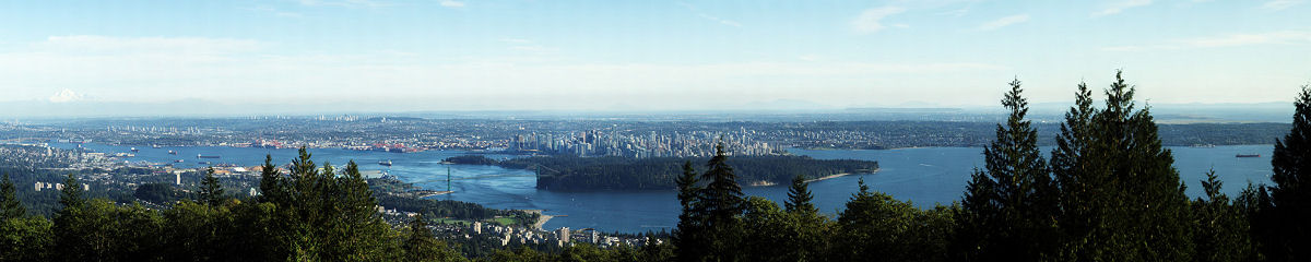 Vancouver from Cypress Mountain Lookout Gigapixel Photography