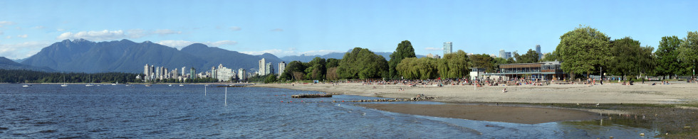 Kitsilano Beach and English Bay Gigapixel Photography