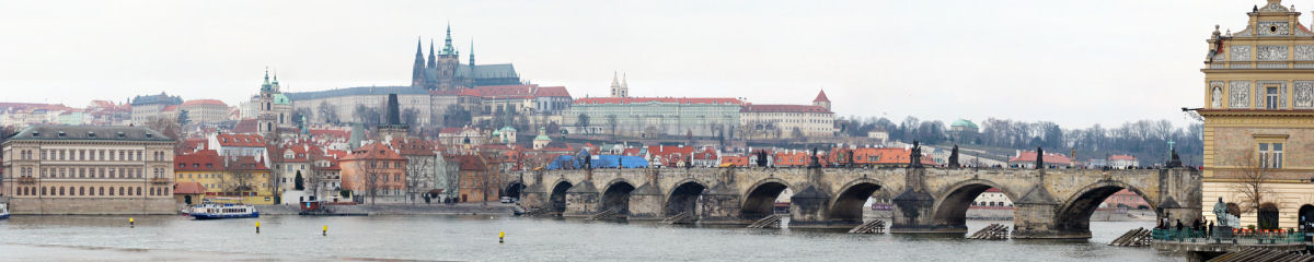 Prague Castle and Charles Bridge Gigapixel Photography