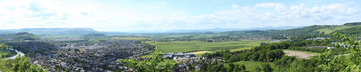 Stirling & Stirling Castle from Wallace Monument Gigapixel Photography