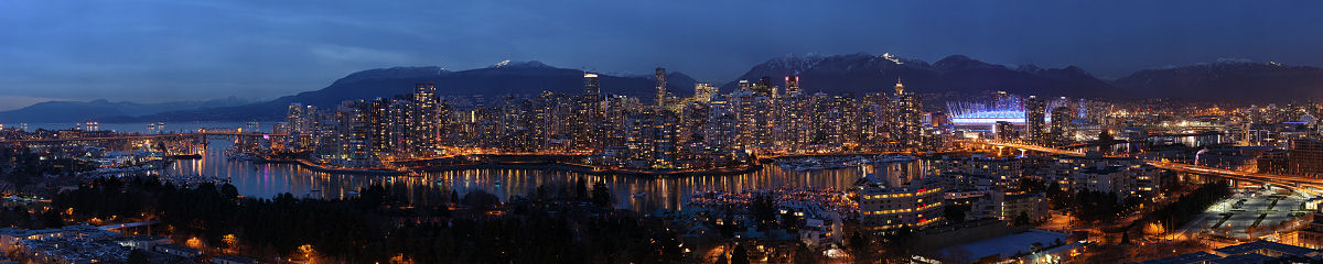 Vancouver from Fairview at Dusk Gigapixel Photography