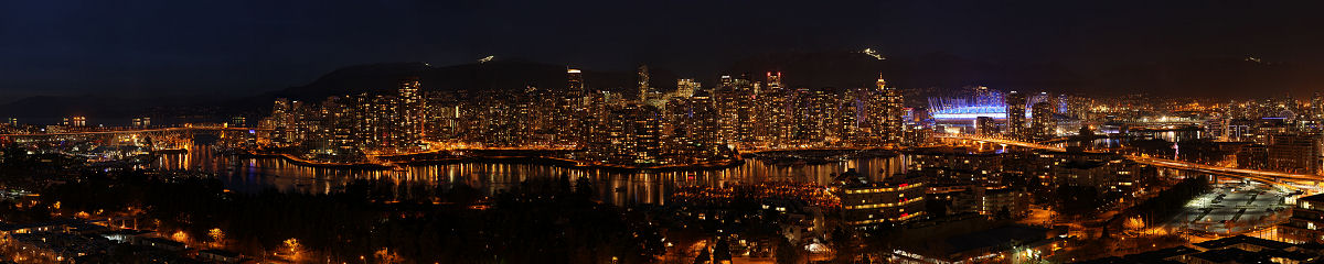 Vancouver from Fairview at Night Gigapixel Photography