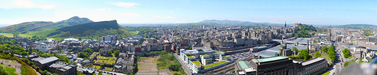 Edinburgh 180° from Nelson Monument Gigapixel Photography