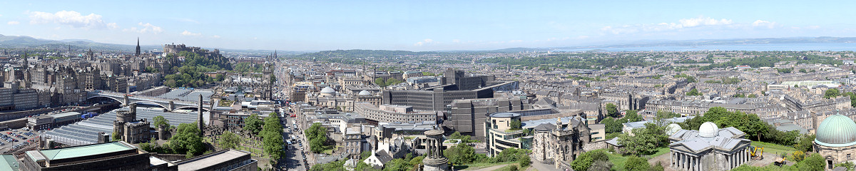 Edinburgh from Nelson Monument Gigapixel Photography
