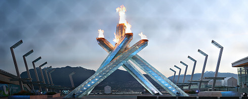 Olympic Cauldron at Sunrise