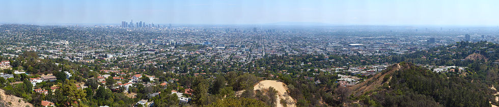 Hollywood and Central LA from Griffith Observatory